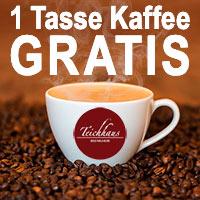 Eine Tasse Kaffee gratis im Teichhaus Bad Nauheim